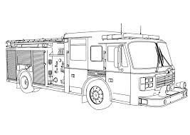 Fire Truck Coloring Pages Printable Archives Within Firetruck Color Page