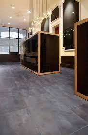 concrete look vinyl tiles flooring that looks like stained modern