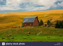 Red Barn, Hay Bales, Albion, Palouse Area, Washington, USA Stock ... Red Barn Washington Landscape Pictures Pinterest Barns Original Boeing Airplane Company Building Museum The The Manufacturing Plant Exterior Of A Red Barn In Palouse Farmland Spring Uniontown Ewan Area Usa Stock Photo Royalty And White Fence State Seattle Flight Interior Hip Roof Rural Pasture Land White Fence On Olympic Pensinula