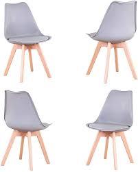 4er set stühle esszimmerstuhl stuhl im nordischen stil geeignet für wohnzimmer esszimmer weiß grau 4er set