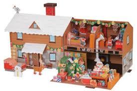 maison du pere noel playmobil gratuit une maison du père noël à fabriquer soi même en papertoy