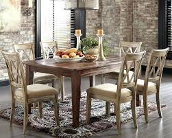 Ashley Furniture Repairs Rustic Dining Table With Padded Seat Chairs