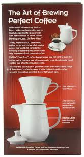 Melitta Coffee Maker Porcelain 6 Cup Pour Over Brewer