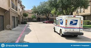 100 Truck Stops In Texas White USPS At Apartment Building Complex On Sunny Da