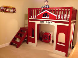 100 Fire Truck Loft Bed Childs Station Do It Yourself Home Projects From