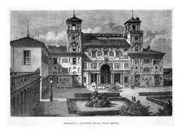 Terrazzo E Facciata Facade Della Villa Medici