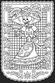 Day Of The Dead Dia De Los Muertos Stained Glass Coloring Book Dover Publications