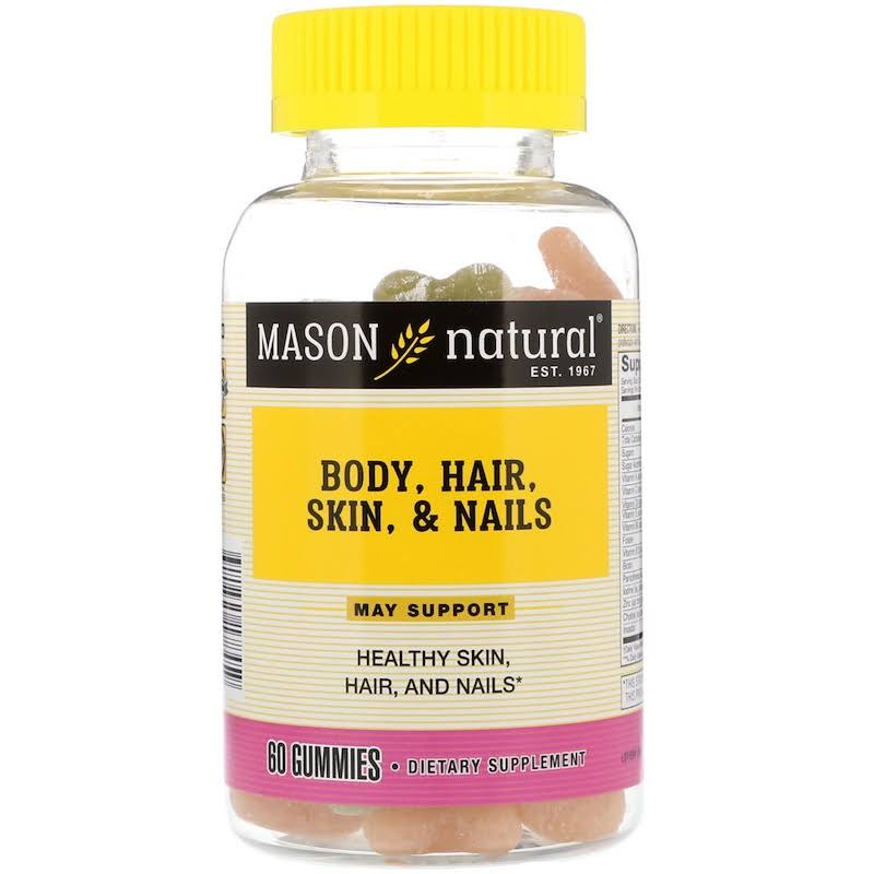 Mason Natural Body Hair Skin Nails 60 Gummies