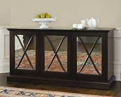 Wood Mirrored Buffet Table Choosing Dining Room Servers Sideboards Furniture Hutch Sets With And Kitchen Cupboard