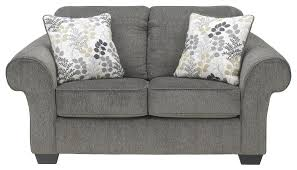 signature design by ashley makonnen charcoal loveseat with large