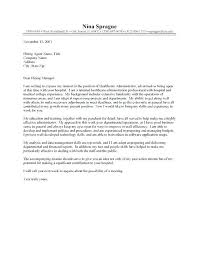 Cover Letters For Administrative Positions Public Affairs Letter Resume Position Best