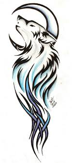 Tribal Wolf Tattoo By Reighnmiyuki