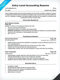 Sample Resume For Accountant Entry Level Accounting Accountants In Canada