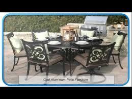 Cast Aluminum Patio Sets by Plastic Patio Furniture Cast Aluminum Patio Furniture Youtube