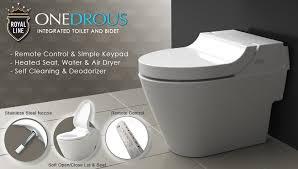 integrated toilet bidet royal line