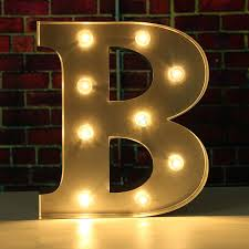 6 Wooden Marquee Alphabet Letter Light Symbo Decorl Lights Sign
