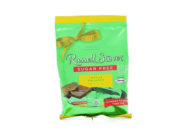 Russell Stover Sugar Free Toffee Squares Candy - 3oz
