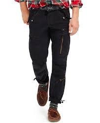 polo ralph lauren military cargo pant in black for men lyst
