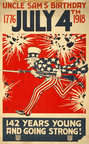 Click For Larger Free Printable File Of This WW1 Patriotic USA Poster