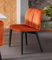 places of style esszimmerstuhl 2er set fsc zertifiziert orange material samtstoff massivholz buche polyester effie