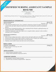 Nursing Aide Resume Sample Examples Cna For Hospital