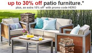 Tar Patio Furniture and Accessories 30% off plus Extra 15