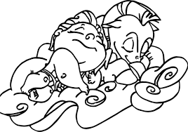 Sleep Baby Hercules And Cute Pegasus Coloring Pages