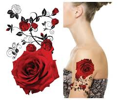 SupperbR Mix Flower Temporary Tattoos 6 Pack Tattoo Store