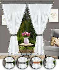 klassische gardinen vorhänge aus voile fürs esszimmer