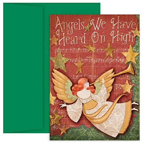 Masterpiece Studios Hollyville Angels We Have Heard on High Greetings, 18 Cards/Envelopes (869300)