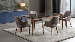 casa padrino luxury designer dining table with glass top in semi precious look high class dining table