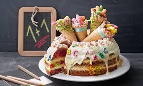 zuckertüten torte zum schulstart