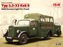 100 Model Fire Truck Kits Typ 2532 KzS 8 WWII German Light ICM Holding