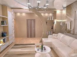 Partition Wall Design Ideas For Luxury Livingroom With Sofa And Wooden Floor Laminated Also Open Selves