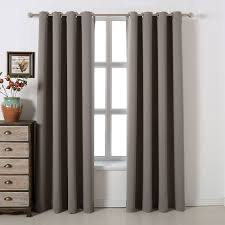 Sound Reducing Curtains Amazon by Amazon Com Blackout Bedroom Curtains Set 100 Polyester Grommet