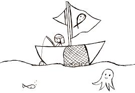 Coloring Page Fisherman By DJ KOKO