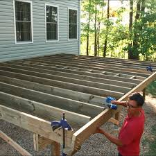 Free Standing Deck Bracing by How To Build A Deck Post Holes And Framing