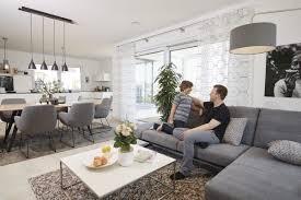 offenes wohnzimmer mit esszimmer küche wohnideen