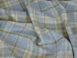 Material For Curtains And Upholstery by 100 Wool Tartan Plaid Cornflower Blue Curtain U0026 Upholstery Fabric