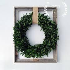 Home Decor Preserved Boxwood Wreath Wood by BirchandBarkWreaths