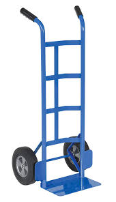 100 Two Wheel Hand Truck Vestil DHHT500SHR Steel With Dual Le Hard Rubber
