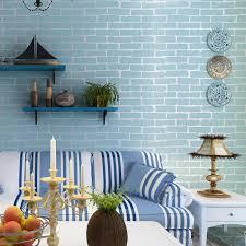 3d vollziegel tapete ziegel blau weiß ziegel shop studie wohnzimmer esszimmer