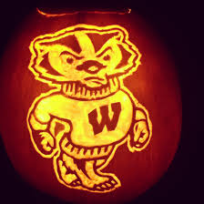 Green Bay Packers Pumpkin Designs bucky badger pumpkin carving 1 gut and really thin out those