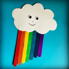 Popsicle Sticks Rainbow Craft