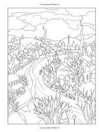 Creative Haven Winter Scenes Coloring Book Books Marty Noble