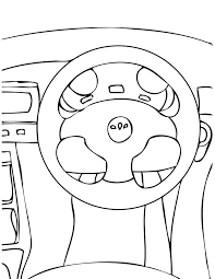 Steering Wheel Coloring Page