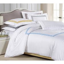 Bed Cover Sets by Superior Serena Embroidered 3 Piece Cotton Sateen Duvet Cover Set