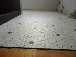 gray hexagon tile bathroom floor hexagon tile bathroom floor