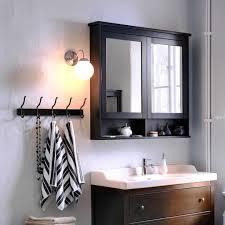 schwarzbrauner spiegelschrank hemnes ikea living at