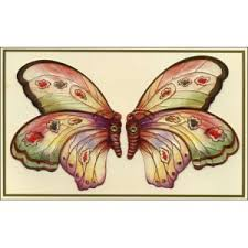 Postcard KISSING BUTTERFLIES CARD